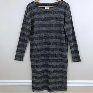 Lou & Grey Striped Long Sleeve Sweater Dress